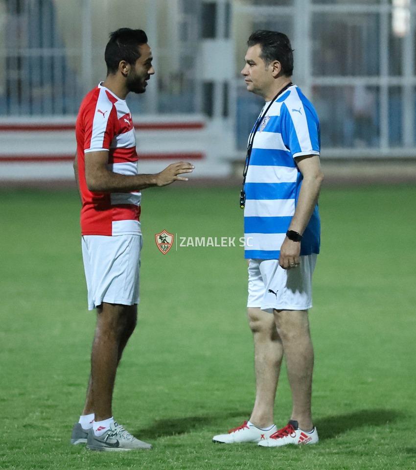 بالصور - الزمالك يواصل تدريباته بقيادة خالد جلال