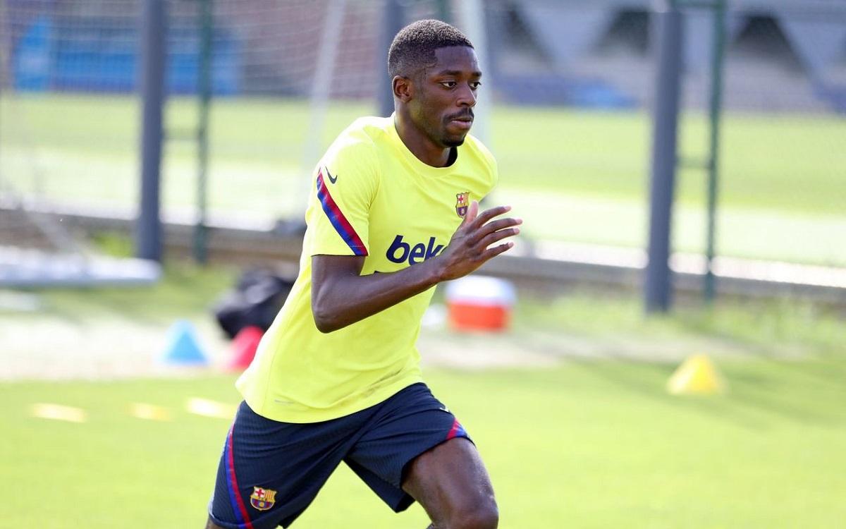 بالصور.. ديمبيلي يعود إلى تدريبات برشلونة أخيراً